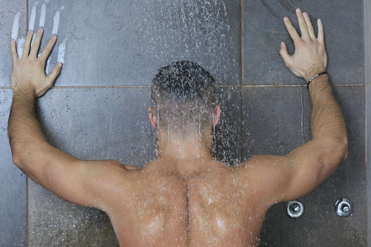 wet whores are taking shower together with the strong man  166310