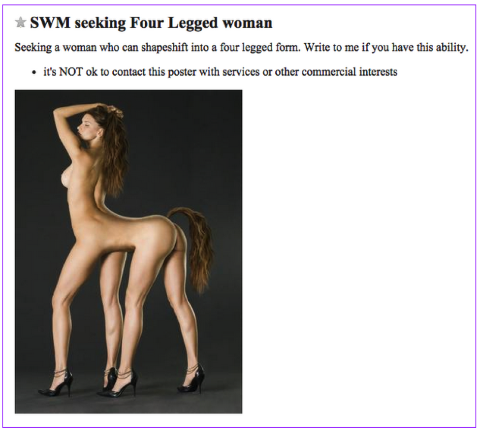 The Most Bizarre Craigslist Personal Ads