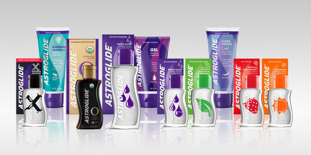 ASTROGLIDE lube: water-based, silicone, natural, flavored