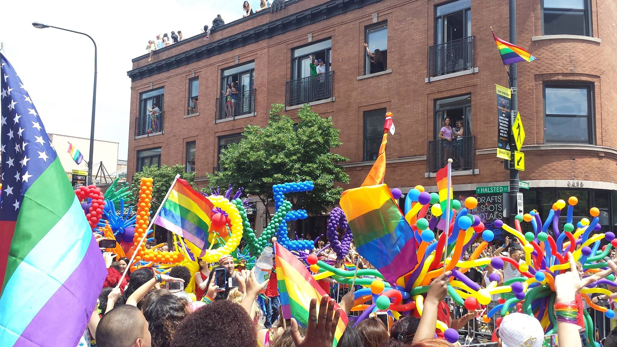 Love comes in all colors at the gay pride parade