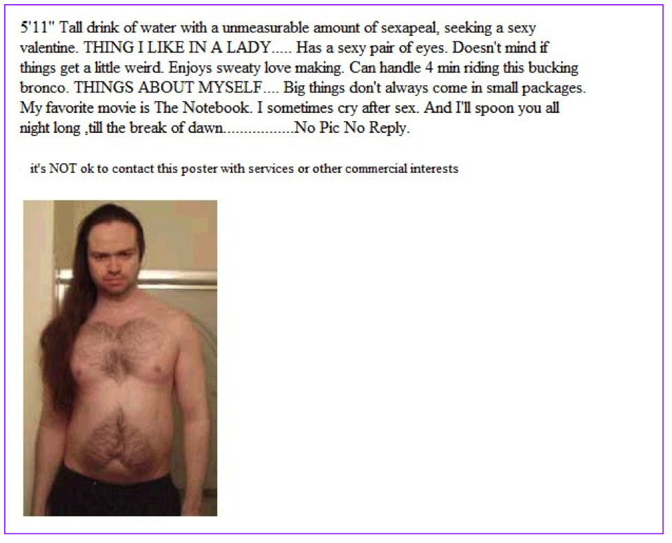 Funniest Craigslist Personal Ads