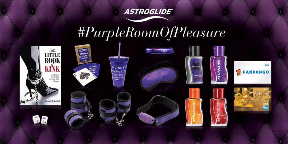 Astroglide's #PurpleRoomOfPleasure Contest Image