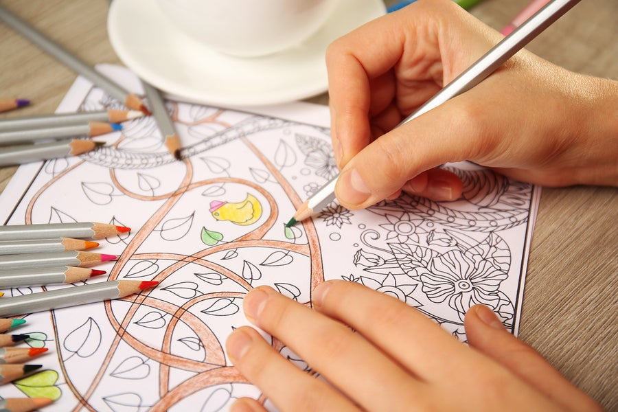 Adult coloring books are one of today's trendiest -- and most effective -- stress management techniques